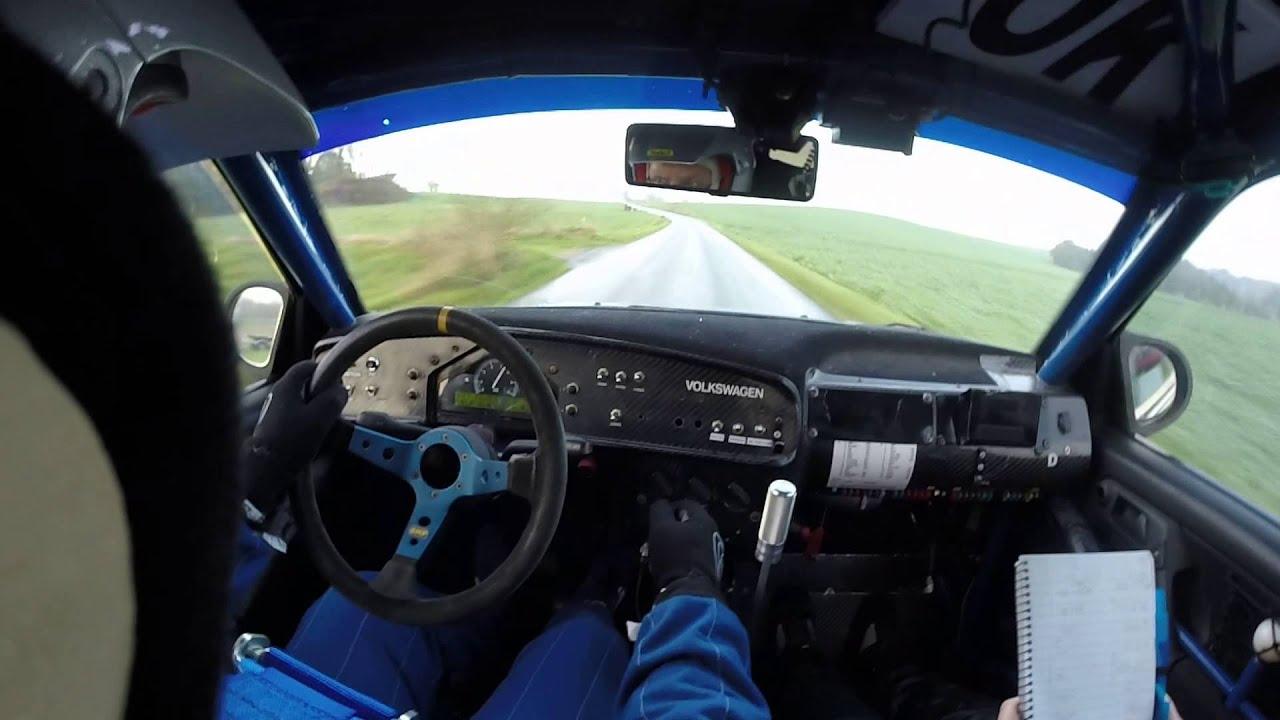 kim wentzel, dm rally 6, golf 3 kit car onboard - YouTube