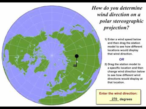 Determining Wind Direction on a Polar Stereographic Map - YouTube on