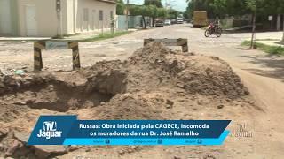 Russas: Obra iniciada pela CAGECE, incomoda os moradores da rua Dr José Ramalho. 14/03/2018