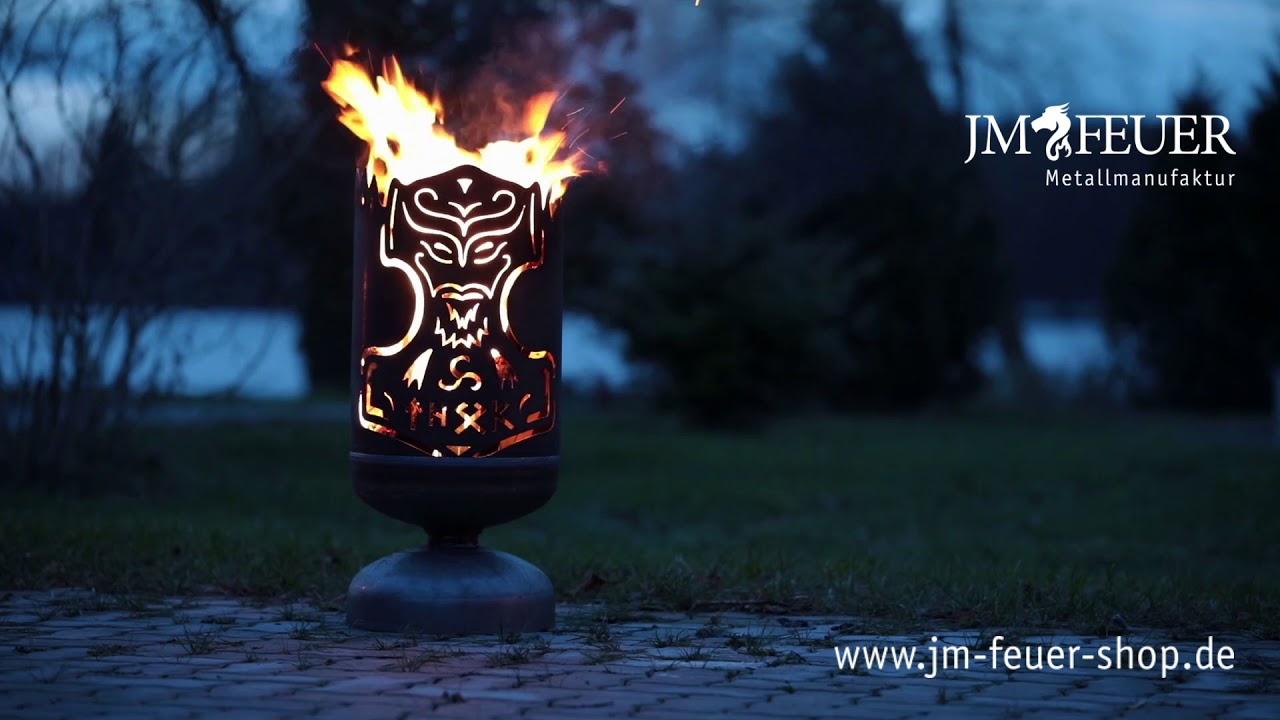 Jm Feuer Shop feuerkorb thors hammer aus metall