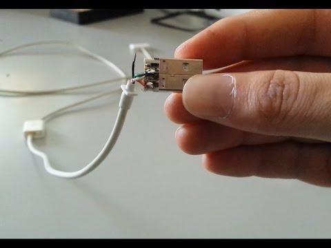 طريقة إصلاح الكابل usb المعطوب  YouTube