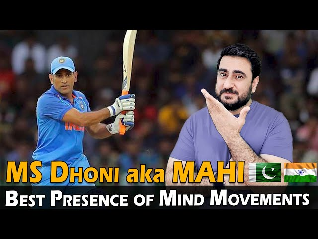 10 Best Presence of Mind Movements | MS Dhoni | Pakistani Reaction | IAmFawad
