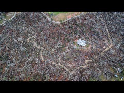 Drone Video Of Tornado Damage In Georgia