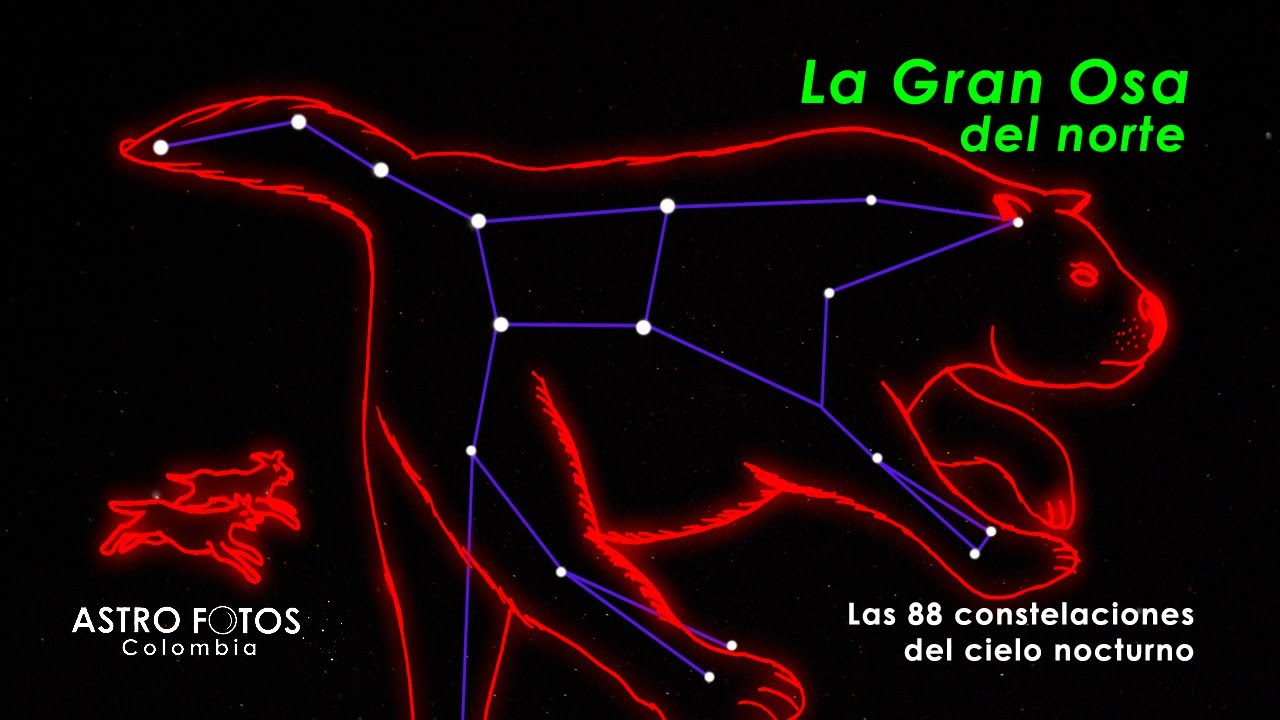 Las 88 constelaciones LA OSA MAYOR - YouTube