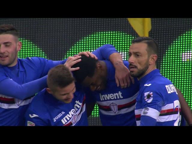 Il gol di Zapata - Sampdoria - Udinese 2-1 - Giornata 26 - Serie A TIM 2017/18