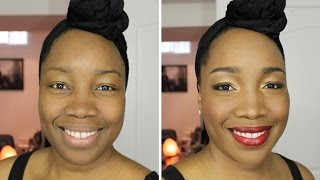 before and after makeover makeup for african black ethnic skin tones