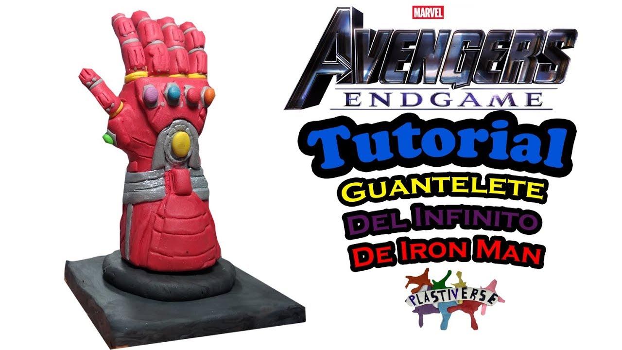 Como Hacer El Guantelete Del Infinito De Iron Man De Plastilina Youtube