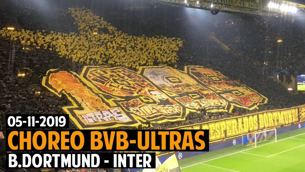 Dortmund Ultras Choreo Borussia Dortmund Inter 2019 11 05 Bvb Inter 3 2 Youtube