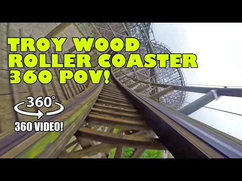 Troy Roller Coaster 360 Degree Virtual Reality POV Toverland Netherlands