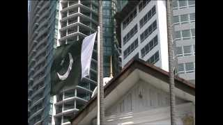 Pakistan Day (2012) at Pakistan High Commission Kuala Lumpur - Flag Hoisting