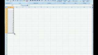 How to change or convert data in rows into columns in Microsoft Excel 2007