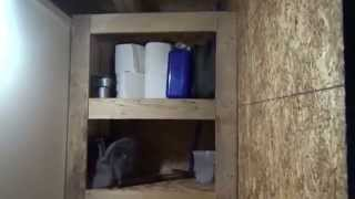 Building Tiny House Bathroom Cabinets With Pallet Wood