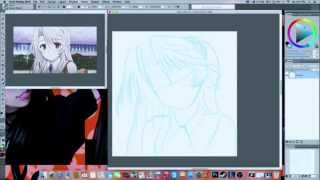 Corel Painter Tutorial - Steps for Drawing like anime Part 1 Rough Sketch