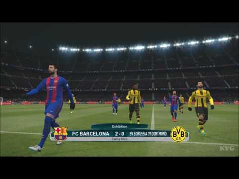 PES 2017 - FC Barcelona Vs Borussia Dortmund   Gameplay (PC HD) [1080p60FPS]