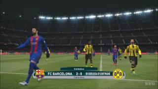 PES 2017 - FC Barcelona vs Borussia Dortmund | Gameplay (PC HD) [1080p60FPS]