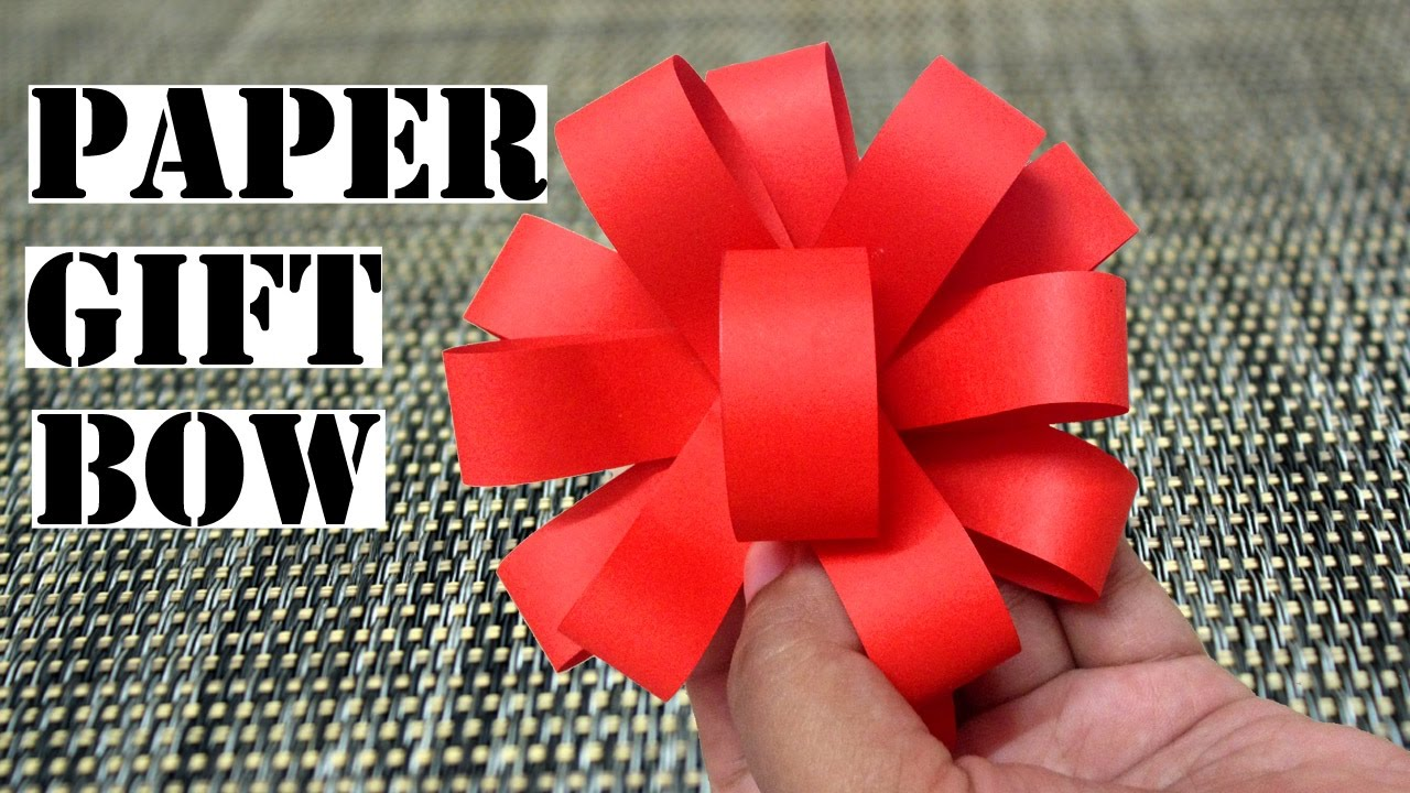 Diy Paper Decorations Gift Bow Paper Bow Super Easy Paper