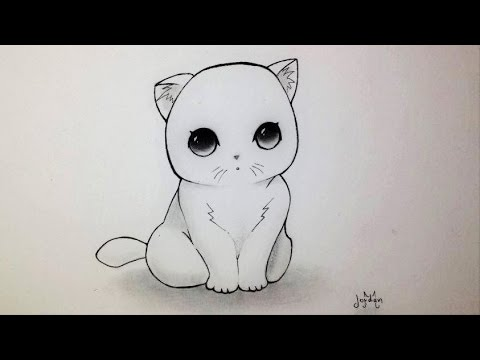 Comment Dessiner Un Chaton Kawaii Tutoriel Youtube