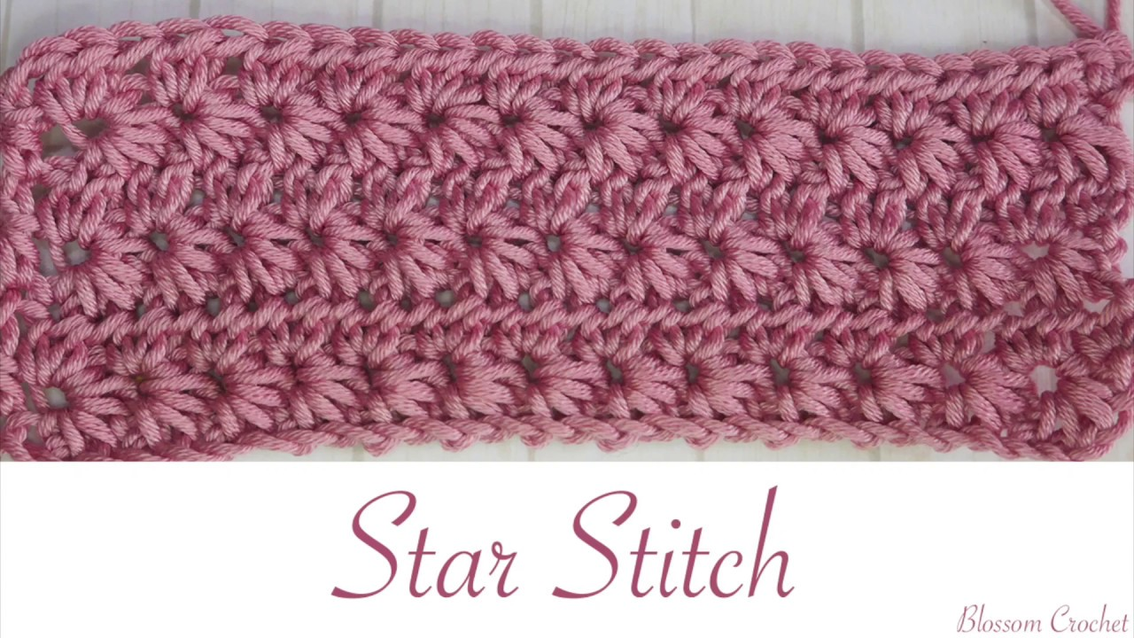 Simple Crochet Star Stitch Scarves Blankets Etc Youtube