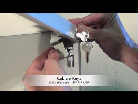 hon f26 vertical file cabinet lock kit install - youtube