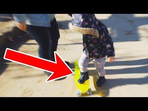 Ariana Prima Data pe Penny board! Vlog in Park + DRONA | Cum a Reactionat?