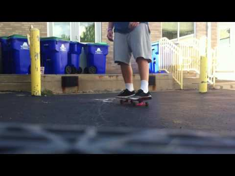Variel Heelflip off the Newfane Elementary School loading dock