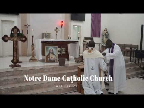 Adorasyon Sen Sakreman ak Pè Jules Campion Jules nan Legliz Notre Dame Fort Pierce