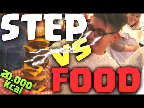 ST3P VS FOOD - IL PANINO CON 8 HAMBURGER, 2O.OOO Kcal!! GUINNESS WORLD RECORD!! w/MATES