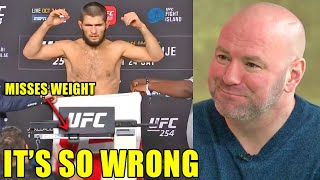 Did Khabib MISS weight for fight against Justin Gaethje? Dana White previews UFC 254