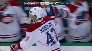 Radulov dekes around Dallas for a slick goal