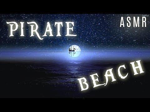 🎧 Pirate Beach 🌴 - Beach Waves/Calm Sea/Twinkling Stars - ASMR