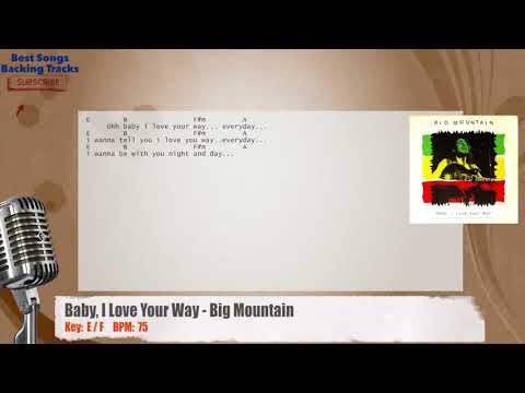 Baby, I Love Your Way - Big Mountain Karaoke Backing Track with chords and lyrics