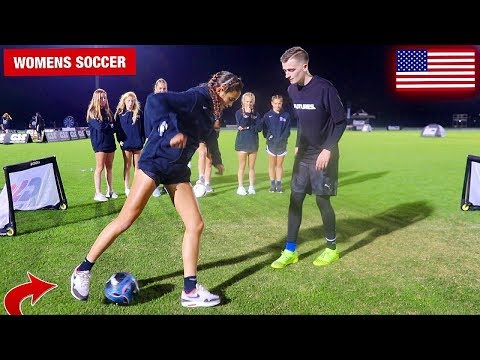 CAN I NUTMEG THE BEST WOMENS SOCCER PLAYERS IN USA !? (CRAZY REACTIONS)