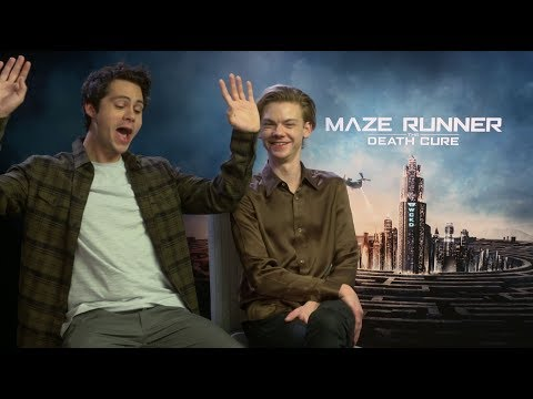 Dylan O&39;Brien pretends to be on a roller coaster ride MAZE RUNNER THE DEATH CURE