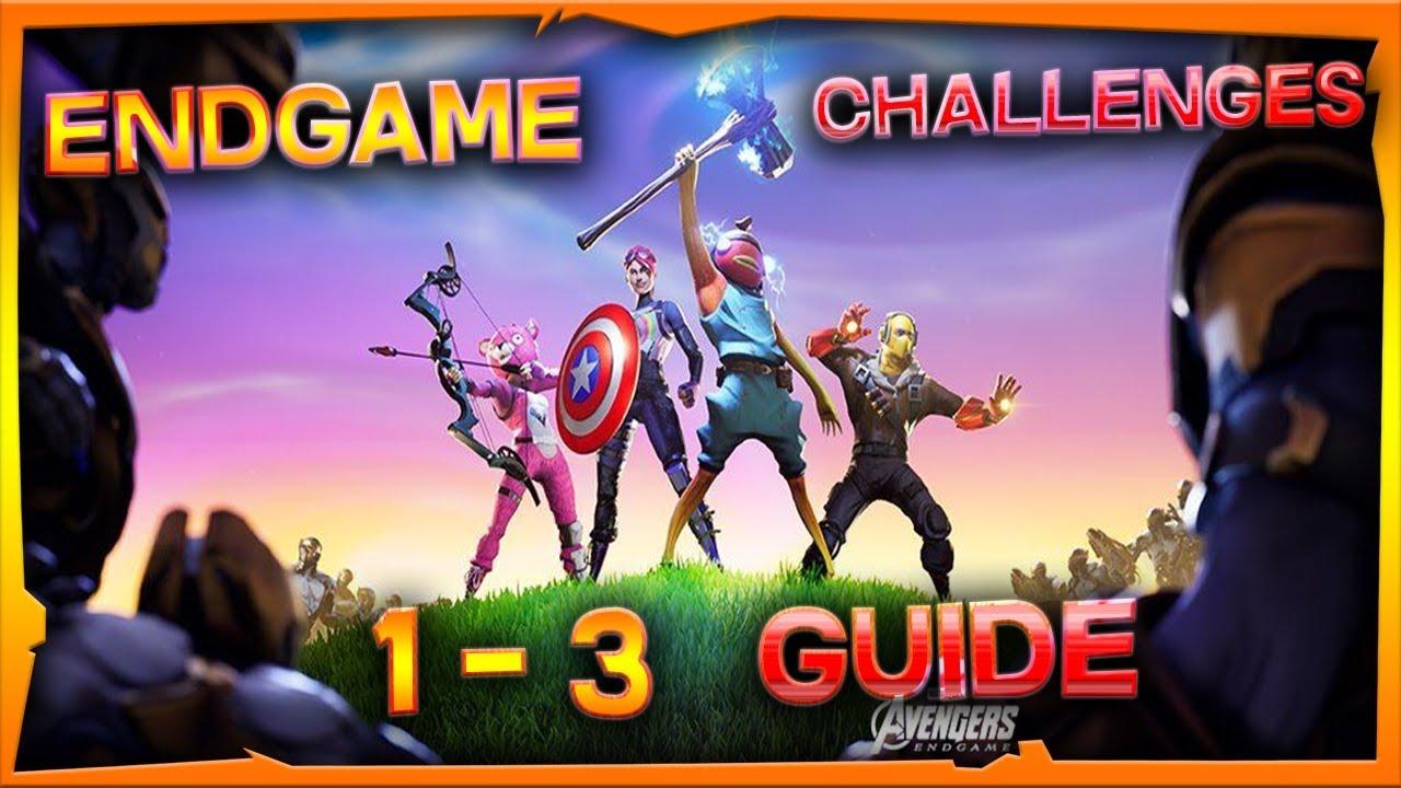 fortnite x avengers endgame challenges 1 3 guide rewards - fortnite x endgame challenges