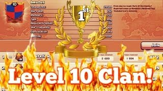 1st LEVEL 10 CLAN EVER! Clash of Clans! Level 10 Perk Clan!
