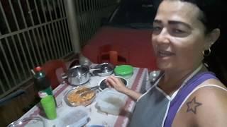 ROTINA NOTURNA:FIZ JANTA NA PANELA DE FERRO