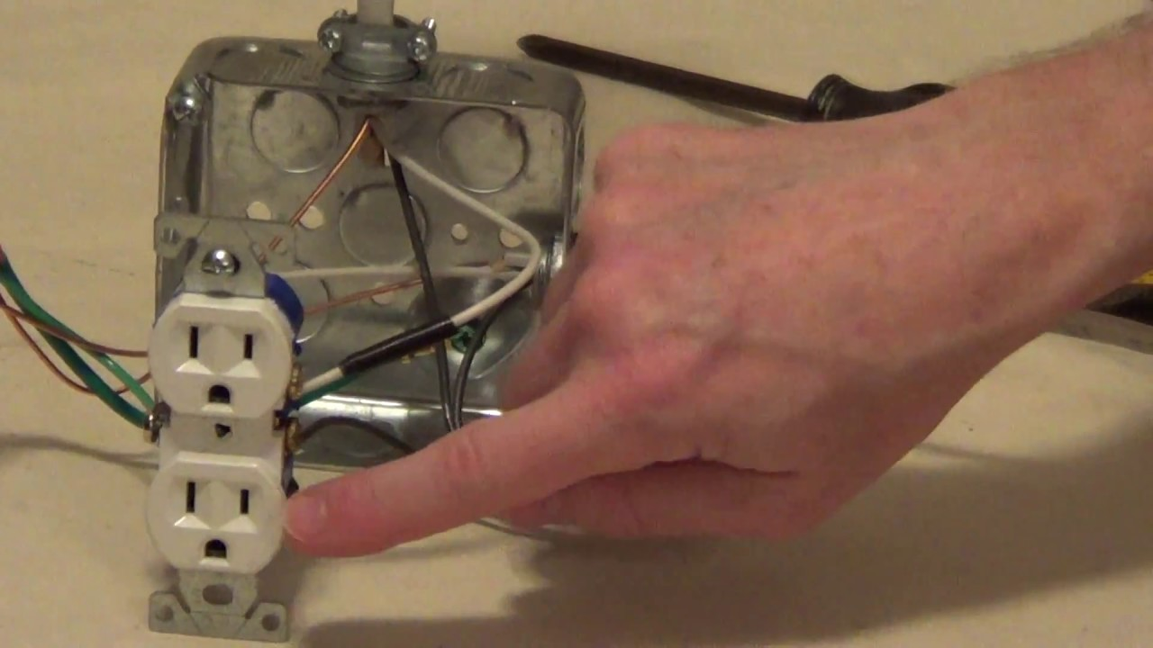 How to Wire a Switched Outlet - YouTube How To Wire An Outlet A Light Switch on bathroom light fixture with outlet, light switch with outlet, switched outlet, wiring a light switch and outlet,