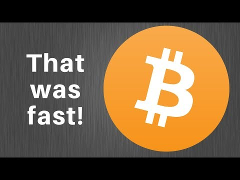 Bitcoin Today - That Was A Fun Rally!