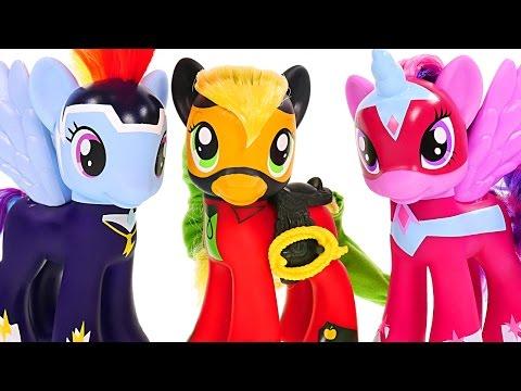 Superhero POWER PONIES My Little Pony Friendship is Magic Pinkie Pie Rainbow Dash Twilight Sparkles