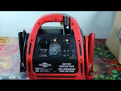 Unboxing A Motomaster Battery Booster Pack Personal Tips