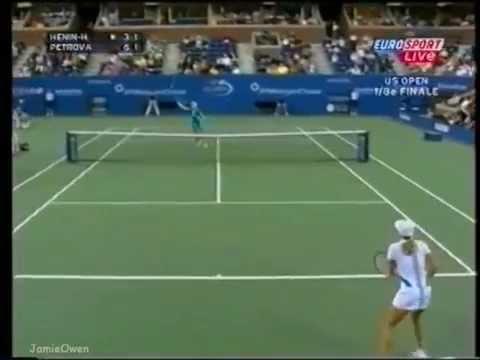 Nadia Petrova vs Justine Henin 2004 US Open Highlights