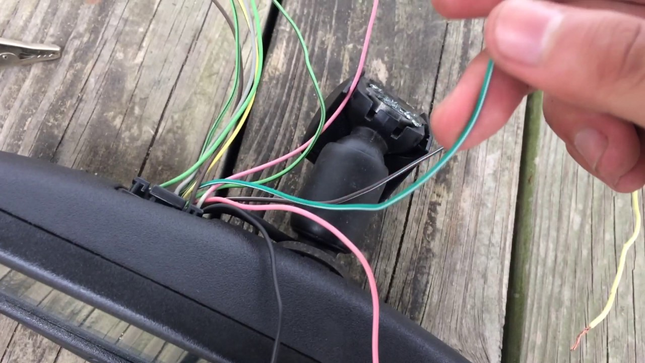 How to wire Gentex mirror  YouTube