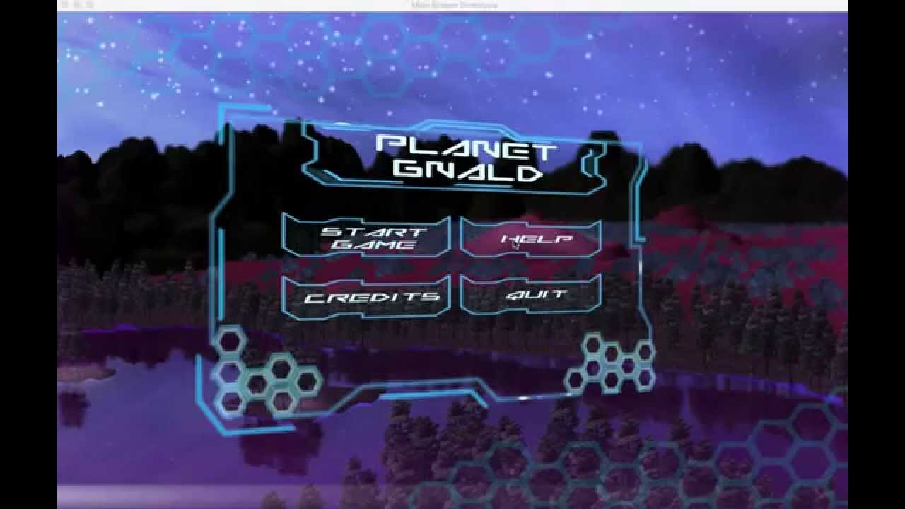 Sci Fi Game Menu Design YouTube - Game menu design
