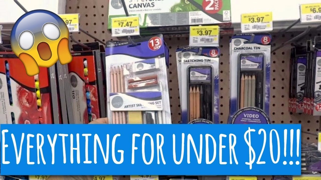 art supplies for under 20 at walmart everything you need to get