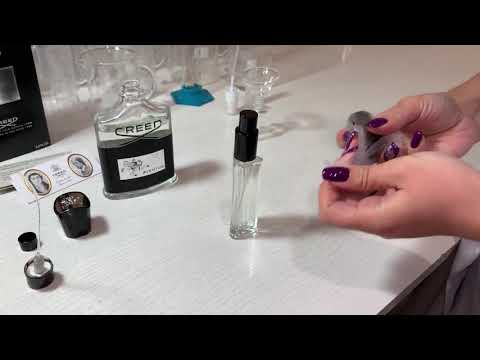 The Process Of Decanting Creed Aventus Perfume For Different Bottles