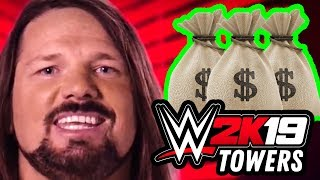Steve and Larson Try (and Fail) To Get A Million Dollars! (WWE 2K19 Towers Gameplay)