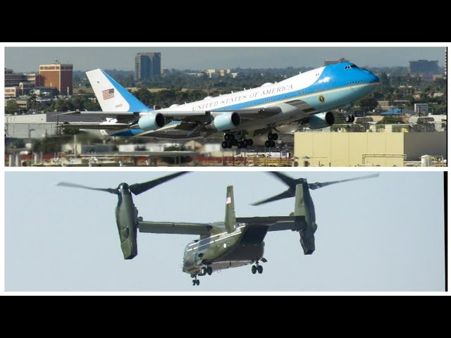 Air Force One + Marine One arrival and departure Phoenix sky harbor!!!