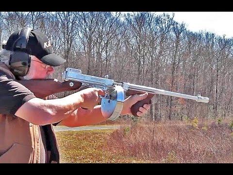 Shooting Thompson Chrome 1927A1 Tommy Gun