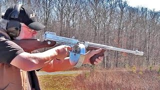 Shooting Thompson Chrome 1927A1 Tommy Gun