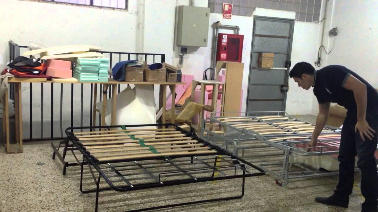 Diferencias entre sofa cama sistema italiano y tradicional for Futon para sofa cama